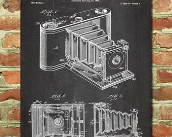 Antique Camera Decor, Vintage Camera Art Retro Camera Wall Art, Camera Gift, Vintage Photography Decor, Folding Kodak Camera Poster P085
