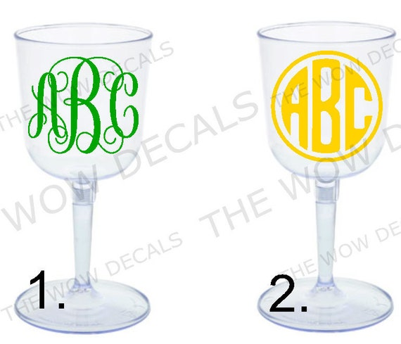 Custom monogram portable plastic wine glass bride groom - Vinogo portable wine glass ...