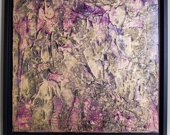 Compassion - abstract, painting, textured, colorful, wall-hanging, decorative
