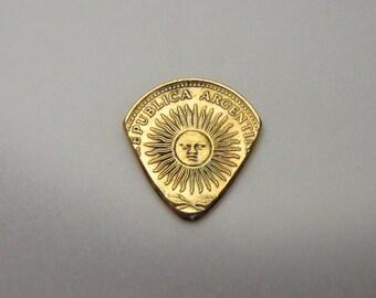 Coin Guitar Pick - Argentina 10 Peso