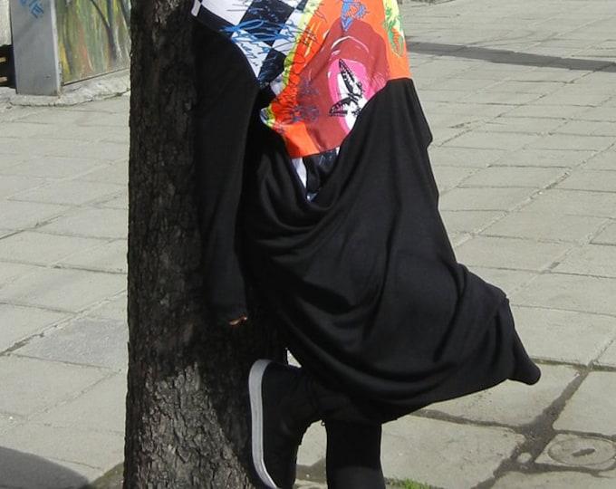 Long Oversized Black dress/ Long black dress / Autumn Winter Long Dress /Maxi dress/ Loose Avant Garde Maxi Dress