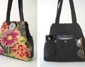 floral handbag, tote bag, tote handbag, shoulder bag, floral purse, shoulder purse, shoulder bag, floral tote bag, pink handbag, hobo bag