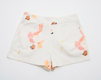 SALE Girls Illustration Cotton Shorts. Holiday, Cocktail Shorts. Fun Spring Fashion. Vivi Shorts SS16