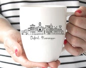 Oxford, Mississippi Skyline Mug