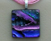 Cremation Jewelry with Ashes Mosaic Glass Fused Pendant Remember Your Pet Choose your style at checkout c45 c46 c47