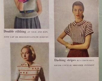 Vogue Knitting Book No. 33 1948 Vintage Knitting Patterns 1940s 40s originals women's sweaters dresses cardigans lingerie - Edward Ardizzone