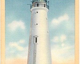 Vintage Massachusetts Postcard - Minot's Light (Unused)