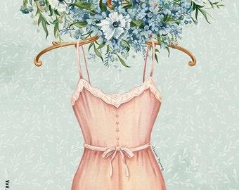 In Bloom Dress, Fine Art Print
