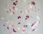 Pink and Peach Nursery Mobile, Baby Girl Nursery Decor, Hanging Mobiles for a Baby