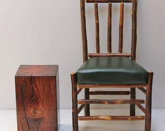 Timber Table Reclaimed Stool Seat Modern Rustic Old World Mahogany