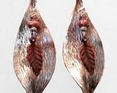 Twisted Double Leaf Earrings