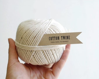COTTON TWINE - 130 yard ball of cotton butchers string in natural white