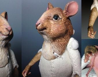 RESERVED: Custom Maus Anthro Art Doll