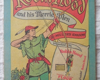 ROBIN HOOD FLOUR 1952 Advertising Comic Book    MDN13
