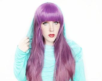 SALE Long Purple wig | Straight Purple Gradient wig | Purple Scene wig | Constellation