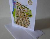 Brooklyn Heights Map Greeting Card