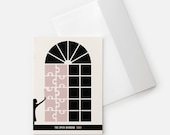 Literary Gift, Saki Open Window, Literary Christmas Card, Bookish Card College Student Gift for Her,  Teacher Gift