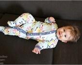 Lullaby  Line Snap Pajamas: Baby Pajamas Sewing Pattern, Footed Pajamas Sewing Pattern