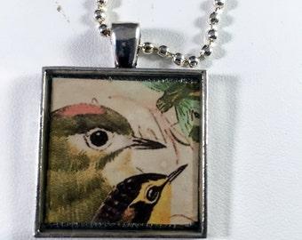 Two Bird Resin Pendant