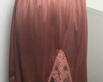 Vintage Rose Half Slip with Lace Detail