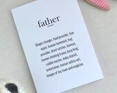 Fathers Day Card, Instant Download, Printable Card, New Father Card, First Father's Day Card, Card for Dad, Geeky, Nerdy Card, UK