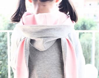 Kids hoodie, rabbit sweatshirt, rabbit sweater, unisex kids, gift for kids. Halloween costume. Sustainable children clothing. Made in Italy