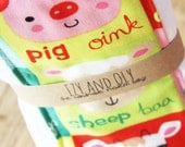 Farm Animals Burp Cloth - Set of 2 - New Baby Shower Gift