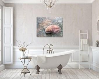 Beach Gallery Wrapped Canvas, Seashell Photography, Ocean Wall Decor, Beachy photo, Coastal Wall Art, Ready to Hang