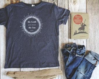 Montessori Kids, T-Shirt, Earth Goes Around the Sun, Birthday Song Shirt, Birthday Shirt
