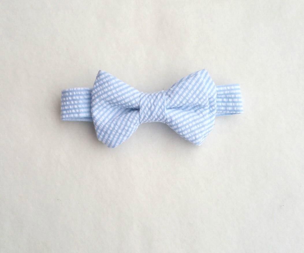 baby blue bow tie seersucker bow tie boys striped bow tie