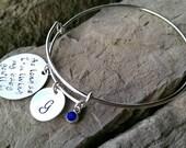 As Long As I'm Living, My Baby You'll Be Bracelet - Mom Bracelet - Baby Name Bracelet - Custom Charm Bracelet - Valentine Gift For Mom