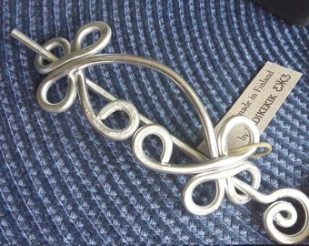 STURDY Unique CELTIC Brooch, Hair Pin or Shawl Pin For Scarf made with Aluminum Wire - Very light to wear -