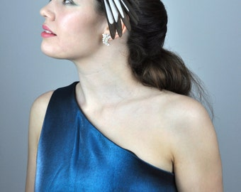 Feather Fascinator in Monochrome Magpie Feathers