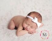 Baby Headband - Baby Girl Headbands - Bow Headbands - Newborn Headbands - White Baby Headband - Baby Bow Headband - Newborn Baby Girl - Baby