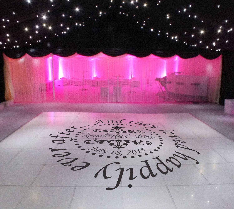 Floor Decal: Wedding Dance Floor Decal Wedding Decor Dance Floor Decal
