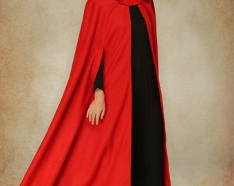 Wool Coat In Red Hooded Wool Coat Hooded Jacket Red