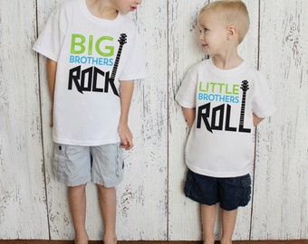Big Brothers Rock & Little Brothers Roll/Big Brother Little Brother/Photo Prop/Bodysuits and/or Youth T Shirts