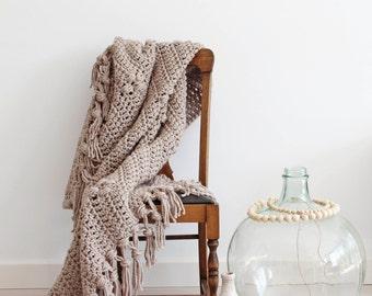 Crochet pattern Pebble Stone Throw