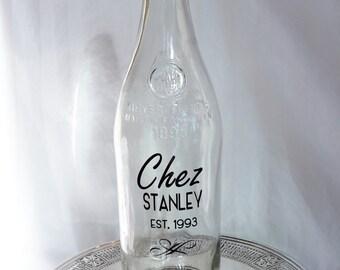 DIY Retro Custom Water Bottle Name Date Personalized WEDDING Gift Wedding Water Bottle Drink Jug Custom Bistro Water Bottle 750ml 34oz One