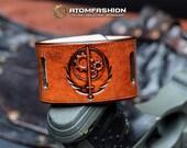 Brotherhood of Steel 2.0 post-apocalyptic leather wristband