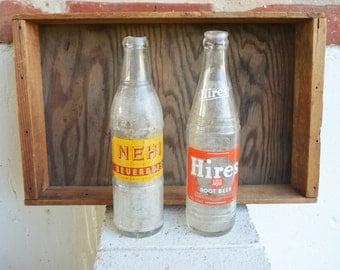 Hires Root Beer 1964 and NEHI Beverages Bottle 1925