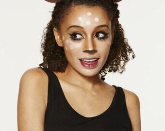 """Faun 6"""" Antlers and Ears Headband / Dark Brown / Deer Costume / Resin Cast"""