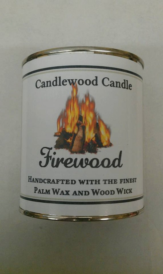 FIREWOOD - Authentic Wood Burning Fireplace Candle 16 oz.