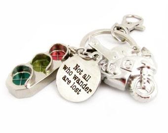 Boyfriend Keychain, Quote Keychain, Car Accessory, Motorcycle Keychain, Biker Gift, Guy's Keychain, Biker Keychain, Boyfriend Gift. MK09