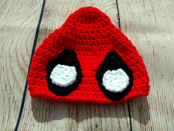 CROCHET PATTERN-Sassy Deadpool-Deadpool Hat-Deadpool Inspired-Superhero Croch...