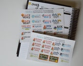 School Stickers, School Stickers for Planner, set of 34 Planner Stickers for Erin Condren, Happy Planner, and more!