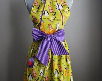 The Daisy *Halloween* • full apron - baking apron - gift idea - cooking apron - ladies - retro - vintage