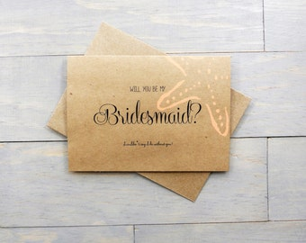 Will You Be My Bridesmaid? Bridesmaid Gift, Beach Wedding