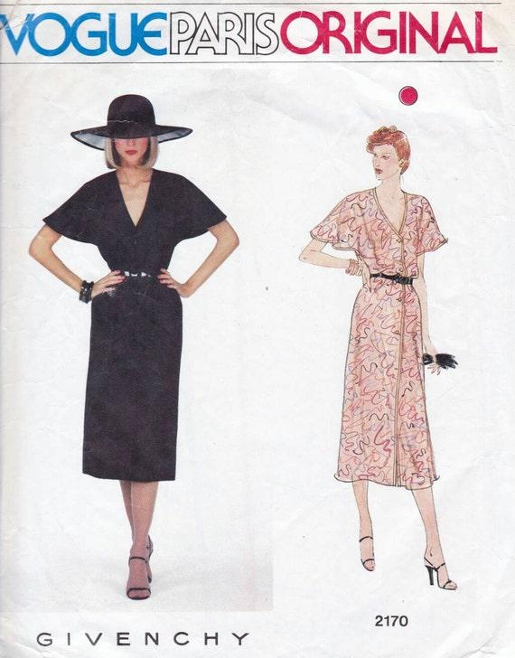 70s Vogue Paris Original pattern designed by Givenchy 2170
