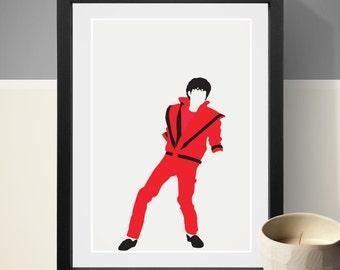 Michael Jackson Poster, Music Poster, Music Print, Art Print